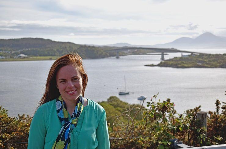 Kate Forbes MSP at Skye Bridge