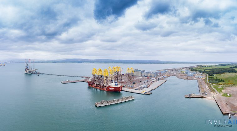 Nigg from the air, picture credit Inverair Drone Services